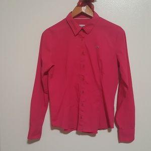 Lacoste Hot pink classical Poplin Shirt